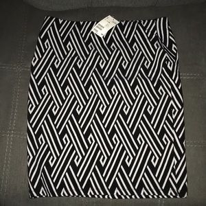 H&M Geometric Pattern Pencil Skirt